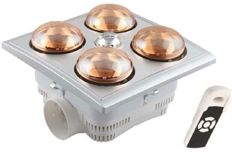 Đèn sưởi nhà tắm âm trần Heizen có điều khiển HE4B-R