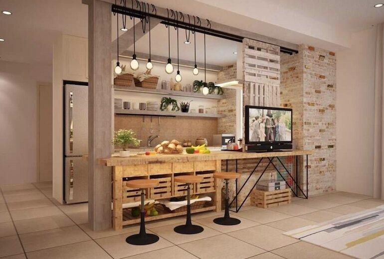 Lý do chọn thiết kế quầy bar ngăn bếp và phòng khách