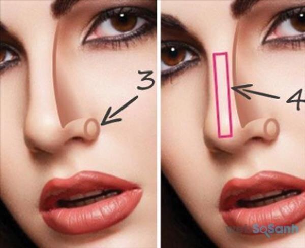 mẹo trang điểm mũi trông cao hơn