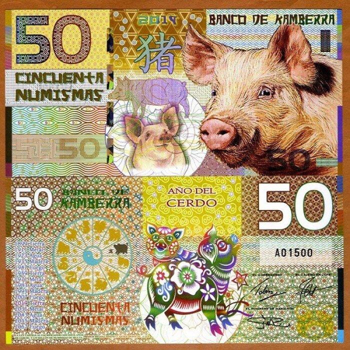 Tiền Con Heo Kamberra Úc 2019