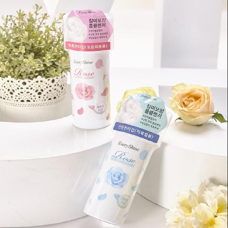 Sữa rửa mặt tạo bọt Every shine Rose Soft Foam Cleanser