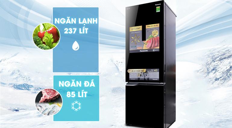 Tủ lạnh Panasonic inverter 322 lít NR-BC369QKV2 phù hợp cho giá đình 3 -4 người