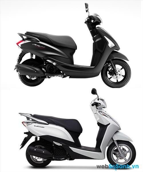 Yamaha Acruzo trông sang trọng, Lead lại thanh thoát hơn