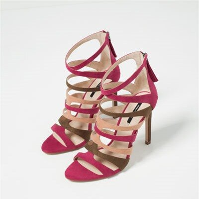 Image 4 of HIGH HEEL STRAPPY SANDALS from Zara