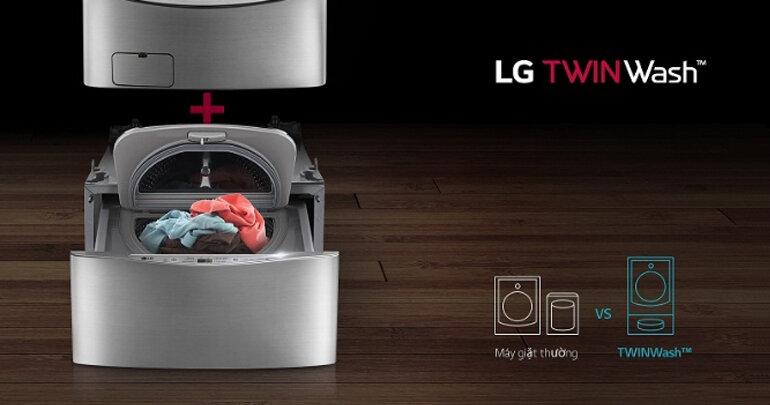 Máy giặt lồng đôi LG Twin wash F2719SVBVB / T2735NWLV - Một trong những siêu phẩm mới đầu tiên của làng máy giặt