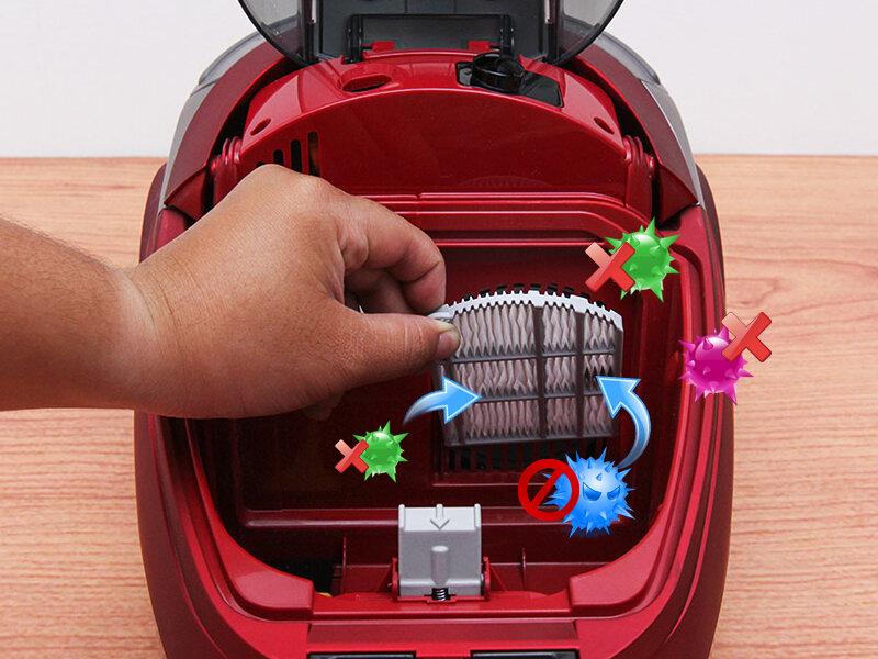 Máy hút bụi Hitachi CV - SH18 dễ dàng vệ sinh sau mỗi lần sử dụng