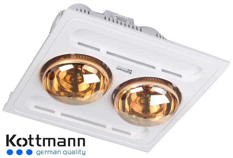 Đèn sưởi âm trần 2 bóng Kottmann K9S