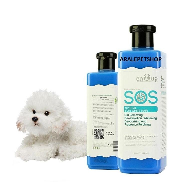Sữa tắm SOS xanh dương dành cho chó lông trắng