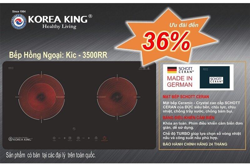 Bếp điện đôi cao cấp Korea King KIC