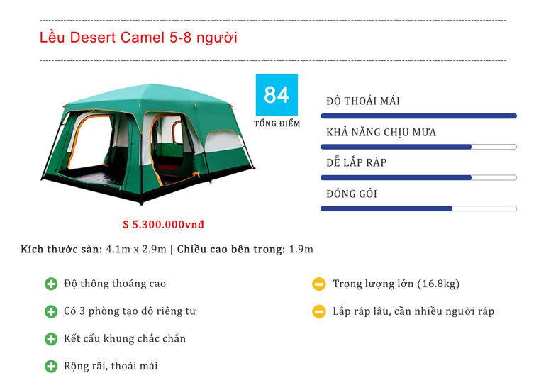 Lều du lịch 5-8 người 2 lớp Desert Camel