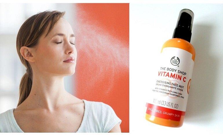 Xịt khoáng The Body Shop Vitamin C Energising Face Mist