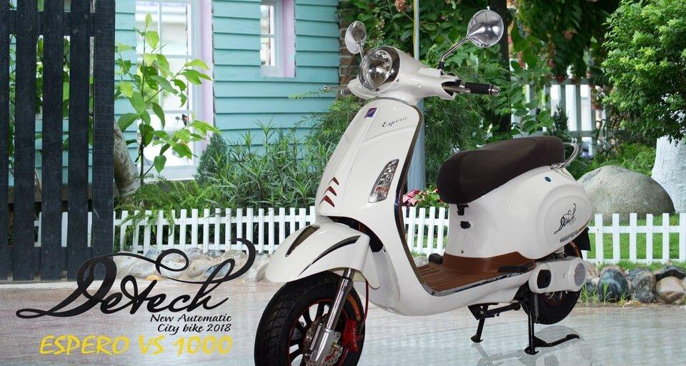 Mẫu xe máy điện Detech Espero Vespa
