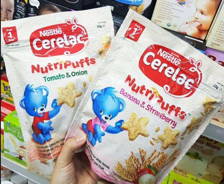 Bánh ăn dặm Nestle có chất lượng tốt nhưng không đa dạng nhiệu chủng loại