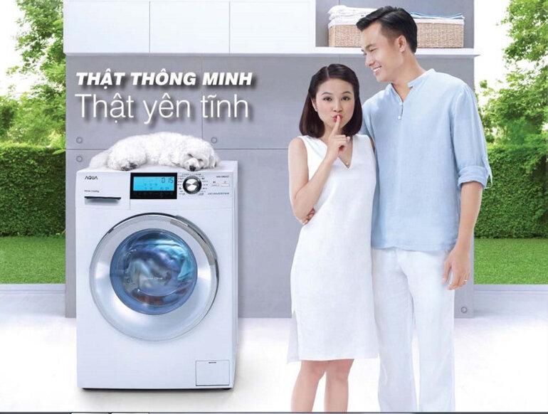 Máy giặt Aqua cửa ngang chạy êm