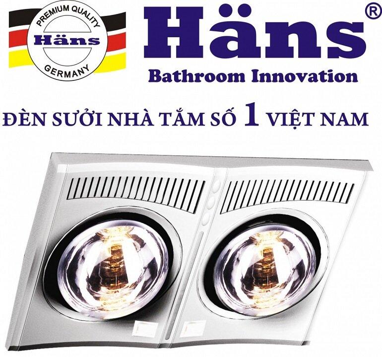 Đèn sưởi nhà tắm được sản xuất bằng công nghệ Đức