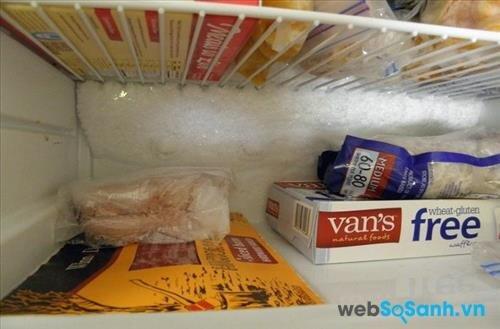 Tủ lạnh làm lạnh đóng tuyết khiến