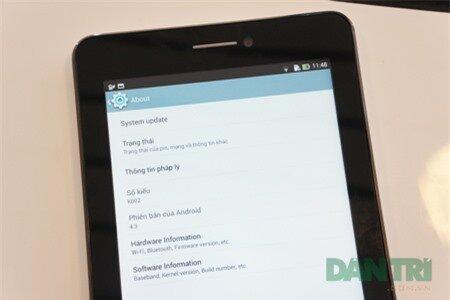 FonePad Dual SIM khởi chạy Android phiên bản 4.3.