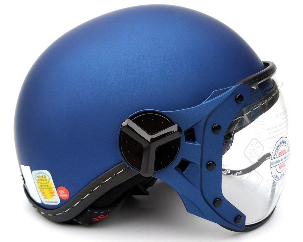 Mũ bảo hiểm Sunda 180B nửa đầu nên rất thông thoáng