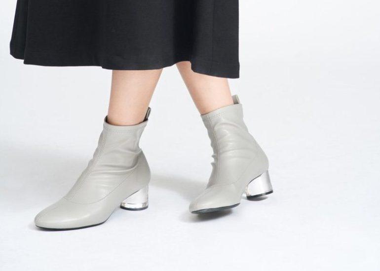 Transparent Heel Sock Boots BO05007