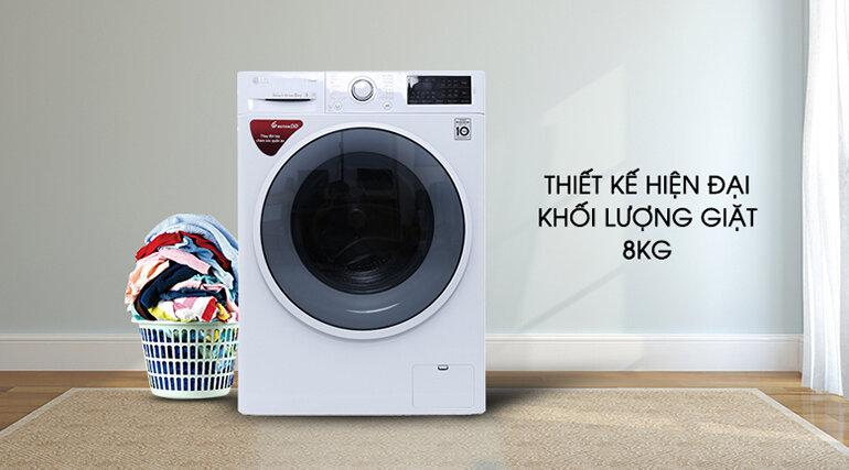 Máy giặt lồng ngang LG FC1408S4W2, 8kg, Inverter