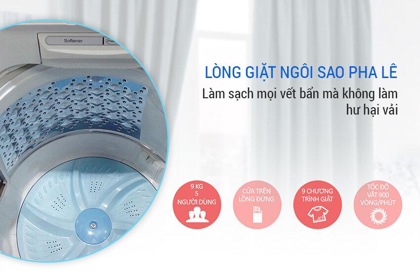 Lồng giặt máy Toshiba kháng khuẩn, rộng rãi