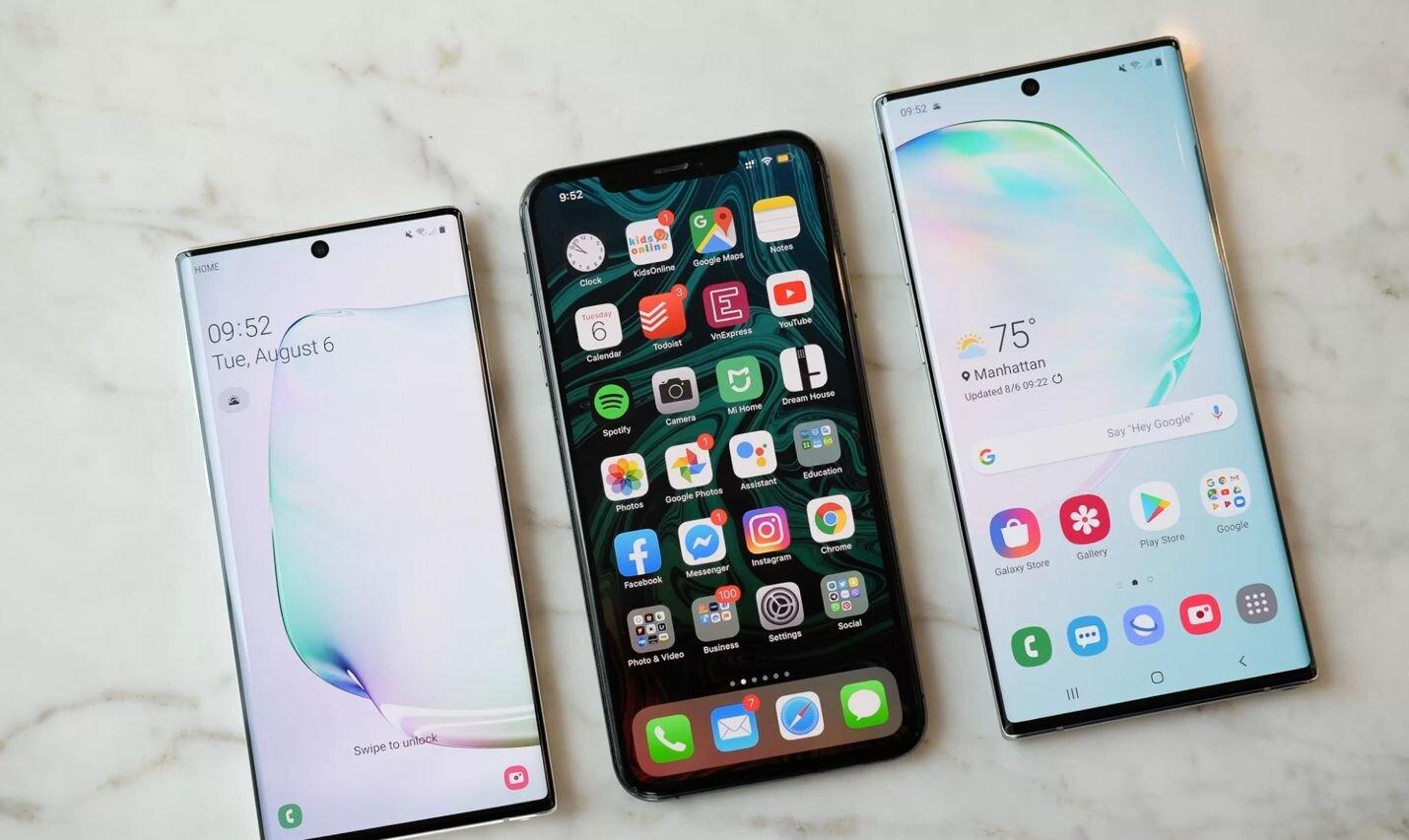 Sức mạnh cấu hình Galaxy Note 10 Plus thường được so sánh với iPhone XS Max