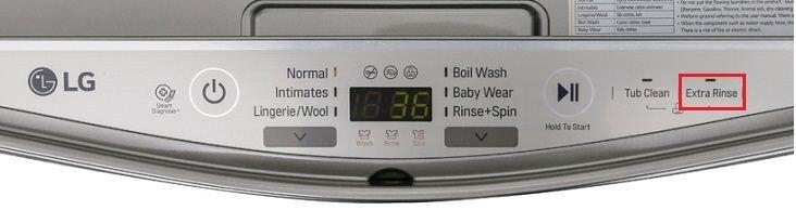 Tính năng giũ mạnh trên máy giặt LG T2735NWLV