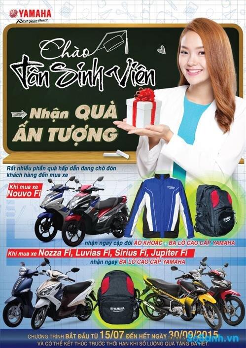 Quà tặng khi mua xe máy Yamaha