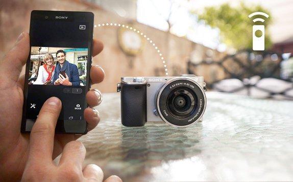 Sony A6000 kết nối Wifi, NFC nhanh chóng tiện lợi chia sẻ những hình ảnh thú vị cùng bạn bè, người thân