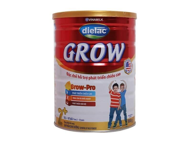 Sản phẩm sữa bột Dielac Grow Plus dành cho trẻ thấp còi