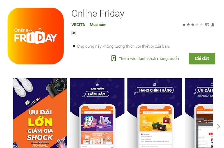 hướng dẫn tải app online friday cho android ios