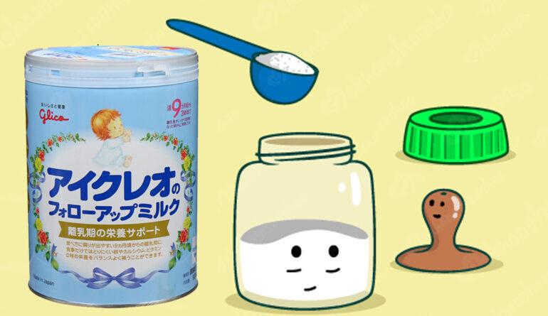 Cách pha sữa Glico số 9 đúng