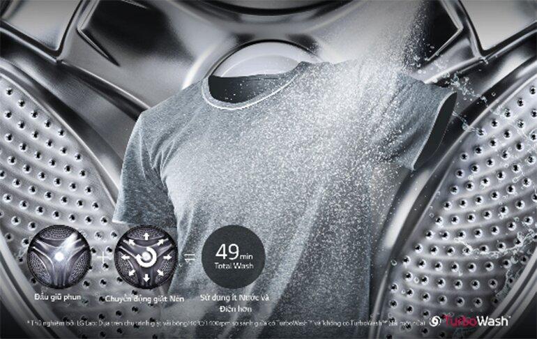 LG FG1405H3W với trang bị các tính năng giặt sấy thông minh 2 trong 1