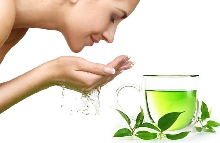 Công dụng của trà xanh trong sữa rửa mặt