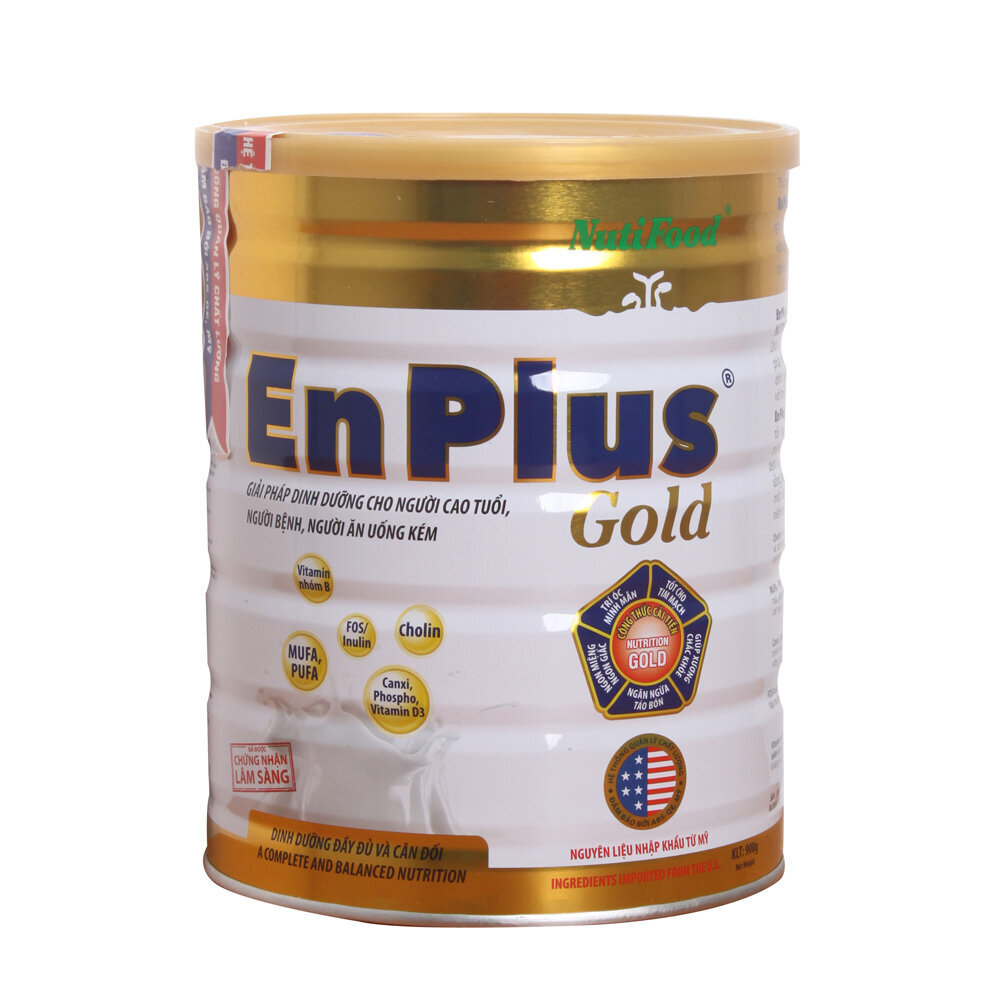 Sữa bột Nutifood Enplus Gold - hộp 900g (dành cho người suy nhược cơ thể)