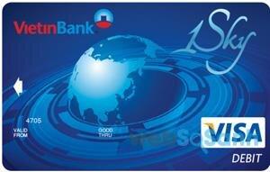 Thẻ Visa Debit 1 Sky của ngân hàng Vietinbank