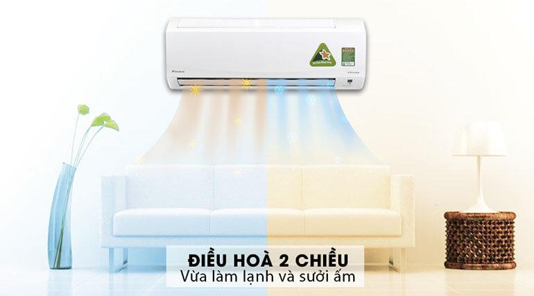 Điều hòa - Máy lạnh Daikin FTXM25HVMV 2 chiều 9000BTU Inverter với 2 chế độ làm lạnh và sưởi ấm bạn sẽ không còn lo mùa đông hay mùa hè có thể ảnh hưởng đến sức khoẻ các thành viên trong gia đình mình nữa