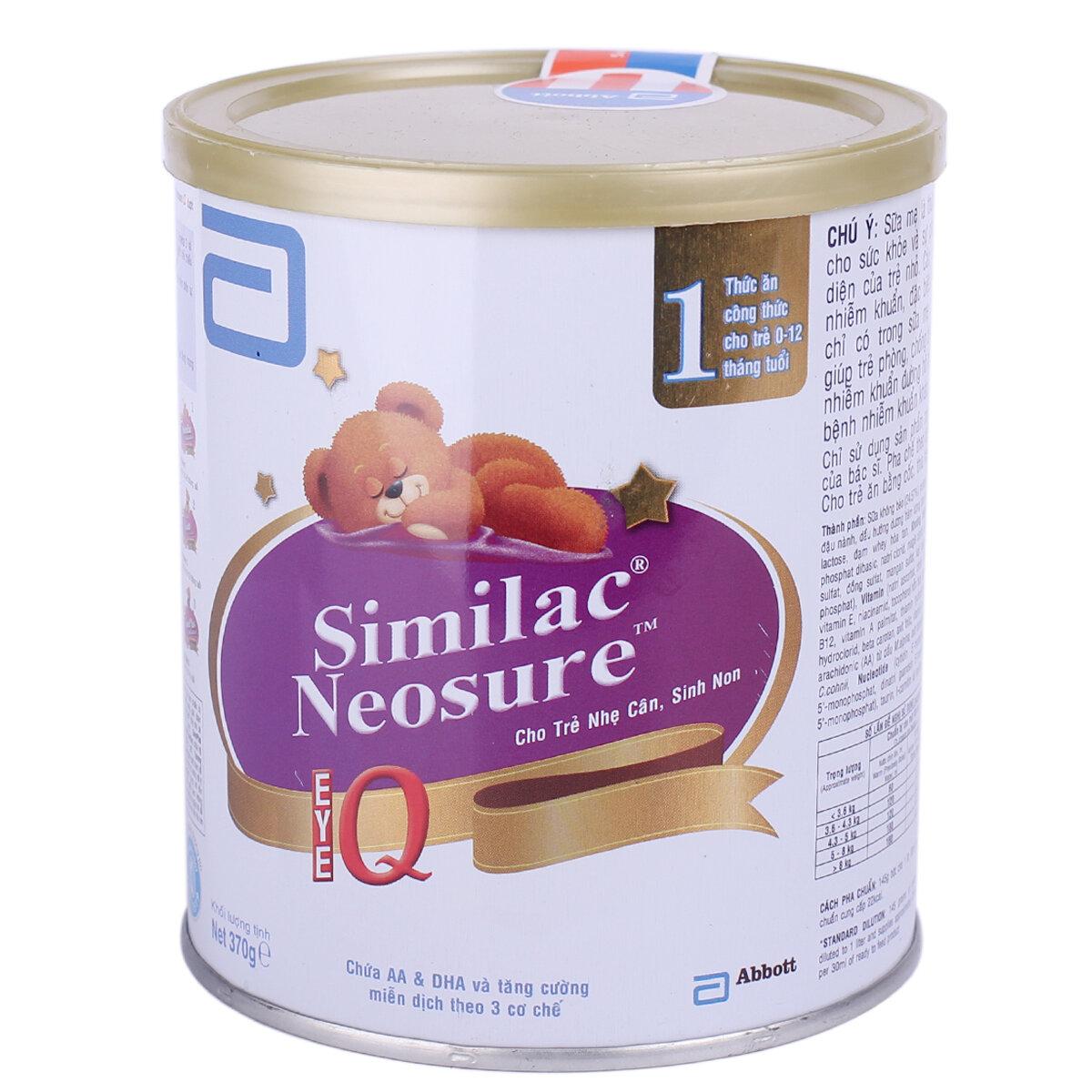 Bổ sung sữa Similac Neosure cho bé vừa ốm dậy