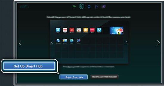 Chọn Setup Smart Hub trên tivi