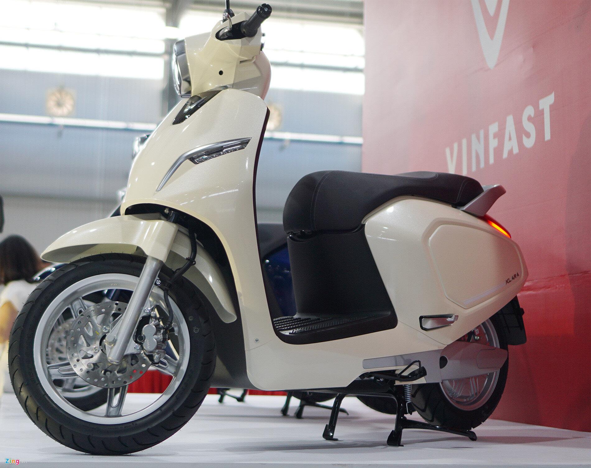 Màu xe máy VinFast Klara trắng hợp cho người mệnh Kim