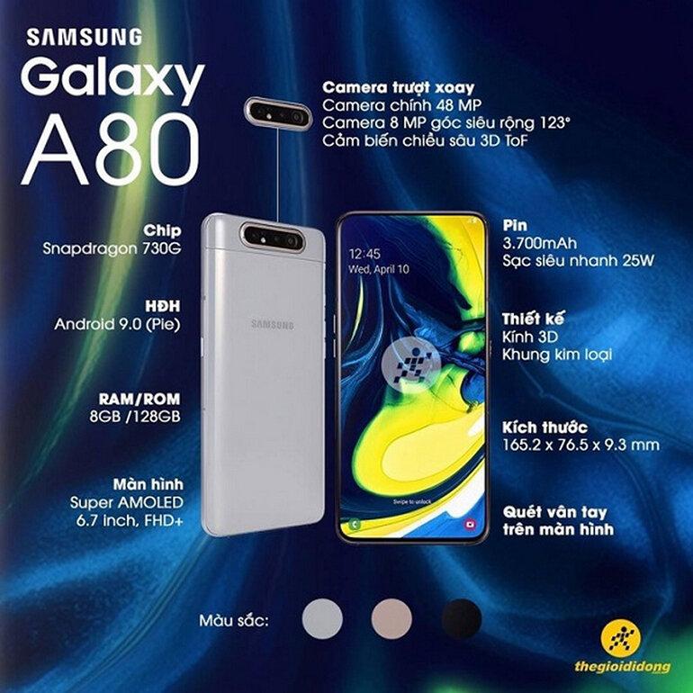 Samsung Galaxy A80 phù hợp với người dùng đam mê chụp ảnh và làm video