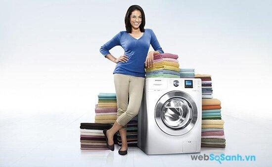 Các máy giặt lồng ngang cao cấp thường có tốc độ quay vắt trên 1000 vòng/phút