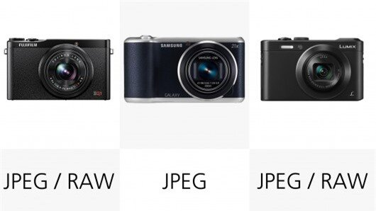 The Samsung Galaxy Camera 2 can only shoot JPEG image files,