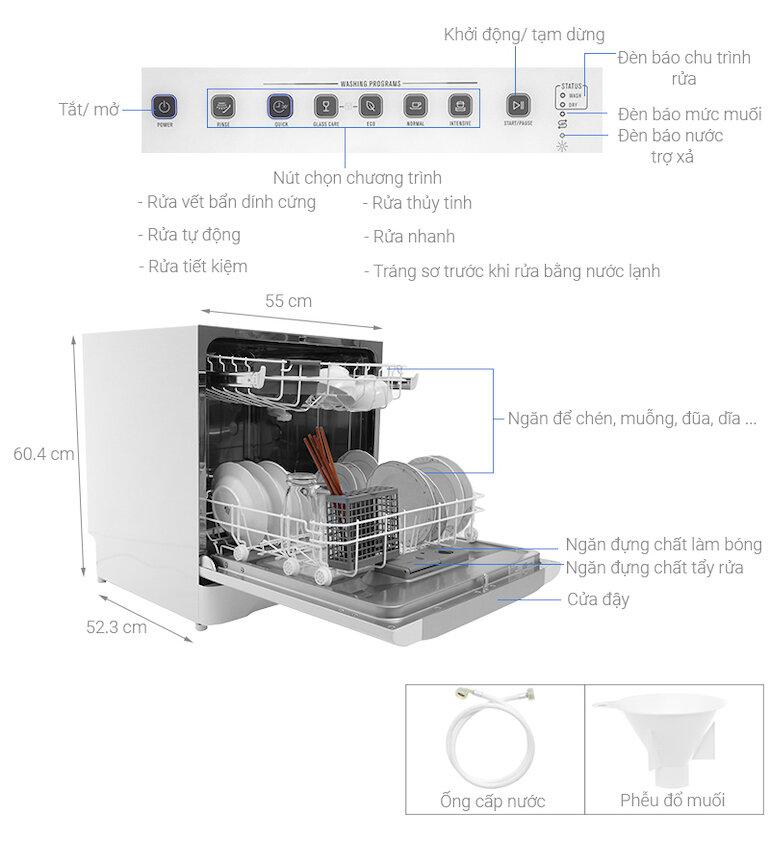 Máy rửa bát chén Electrolux ESF6010BW