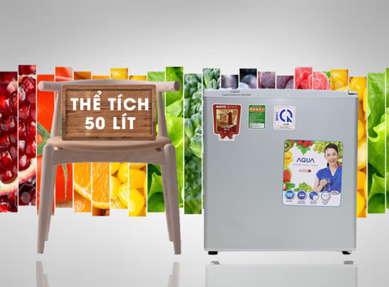tủ lạnh Aqua mini với dung tích chỉ 50 lít