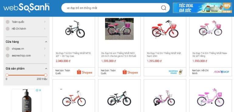 Xe đạp trẻ em Thống Nhất có những thiết kế gì?