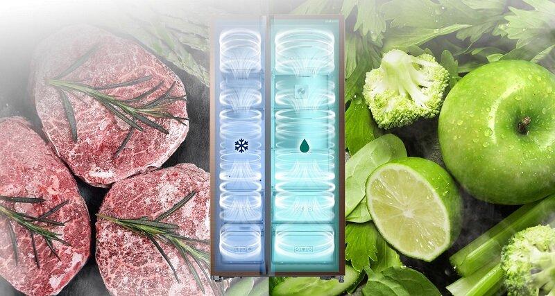 Tủ lạnh Side-by-Side GR-R247LGB mang đến cho cả gia đình những thực phẩm tươi sạch