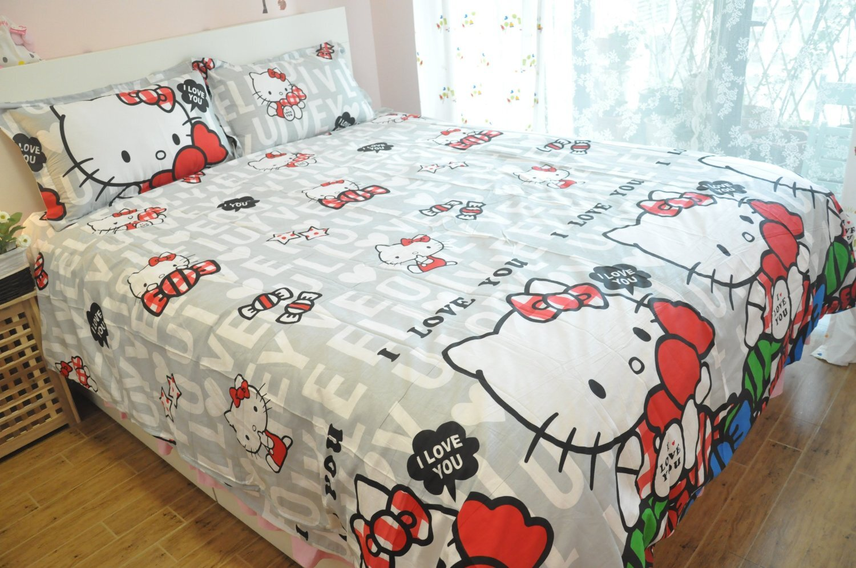 Mẫu chăn ga Hello Kitty số 15