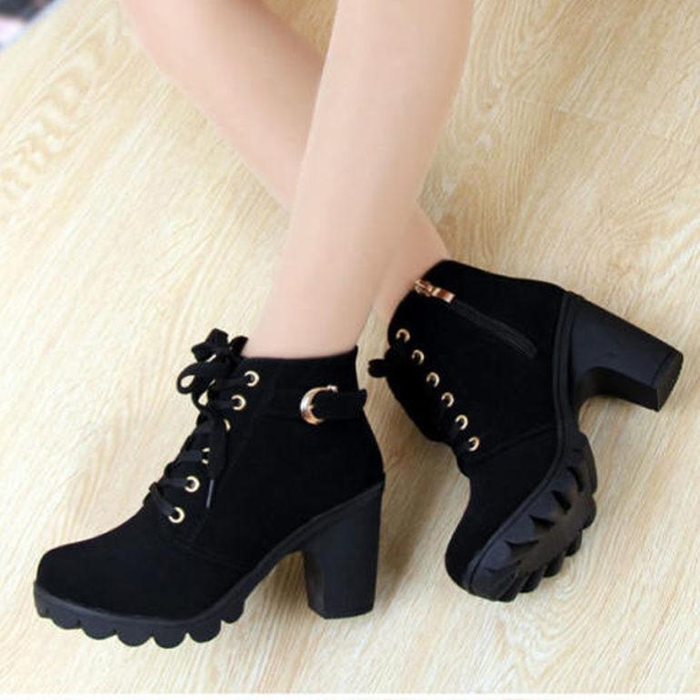 Combat boots nữ cổ ngắn