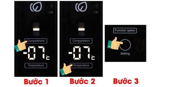 Cách điều chỉnh ngăn Magic Room trên tủ lạnh Aqua ngăn đá dưới